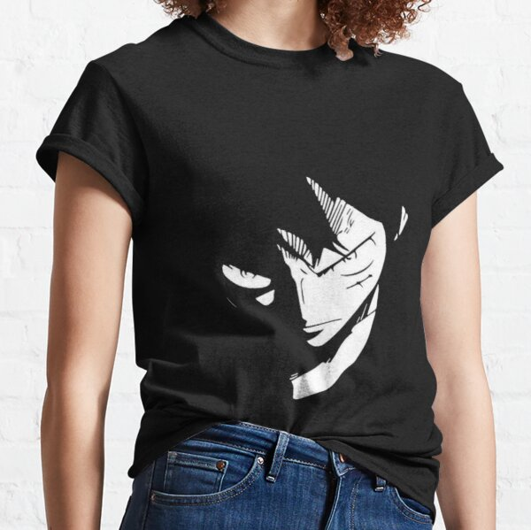 Luffy One Piece enojado Camiseta clásica