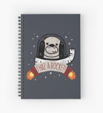 SPACE PUPPY HAZ A ROCKET! Spiral Notebook