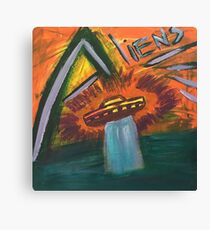 Alien space ship lost in space coming out of water and into oblivion Canvas Print
