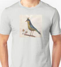 Crowned perky bird Unisex T-Shirt