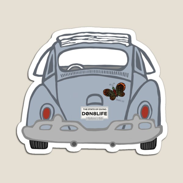 Old Classic Car With Donate Life Plates Magnet
