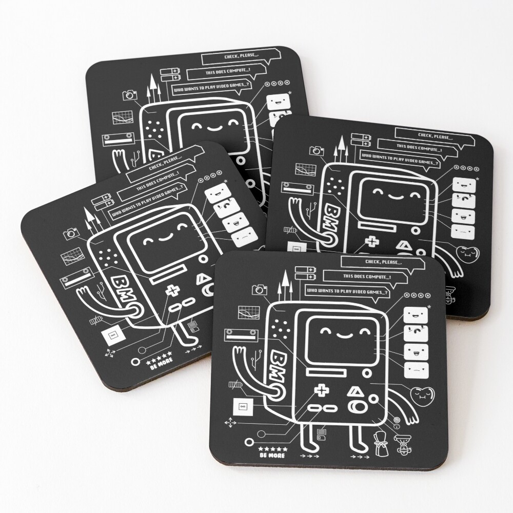 BE MORE BMO Coasters (Set of 4)