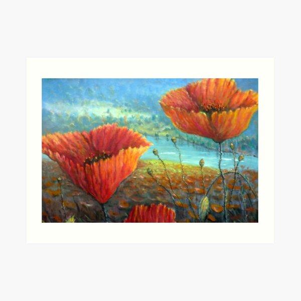 Poppy Field Provence, France Art Print