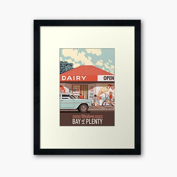 Corner Dairy Framed Art Print