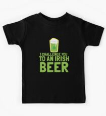 I challenge you to an IRISH BEER green Ireland pint  Kids Clothes