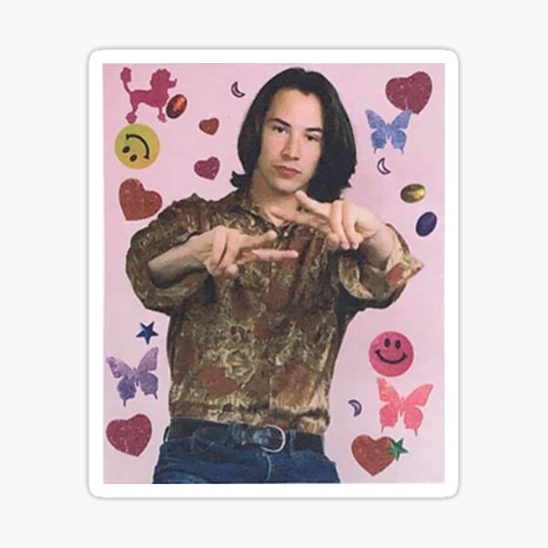 Keanu Reeves ICONIC 90s Teen Mag Sticker
