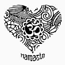 Yoga Heart Namaste Om by EthosWear