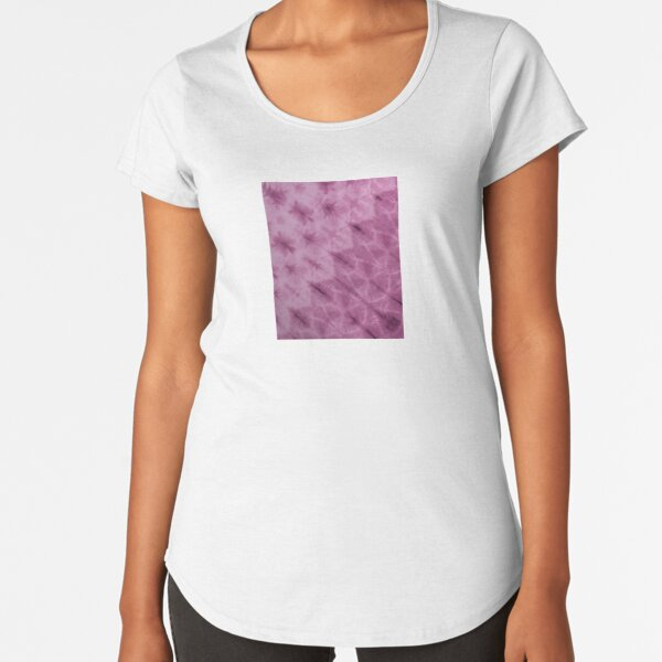 SKU612 Shibori Style - Violet 4 Premium Scoop T-Shirt
