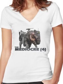 The Mediocre Four Women's Fitted V-Neck T-Shirt