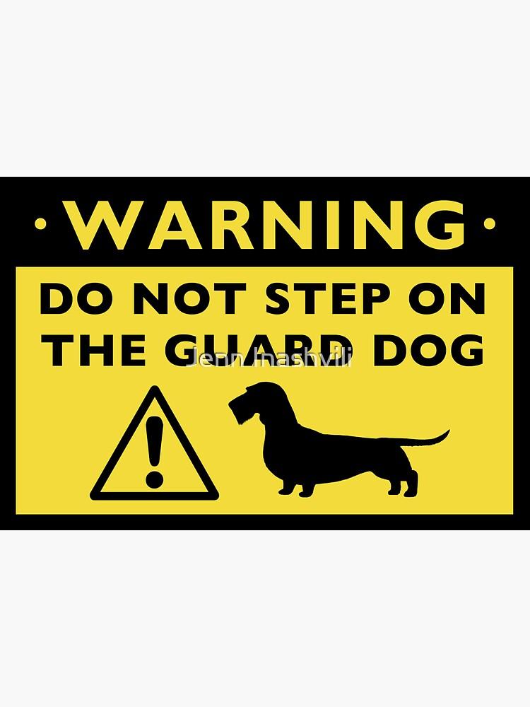Humorous Dachshund Warning (Wirehaired Dachshund) by ShortCoffee