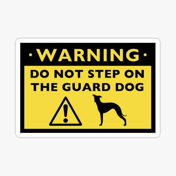 BEWARE OF GUARD DOG Warning Sign dogs lover signs gift security patrol attack