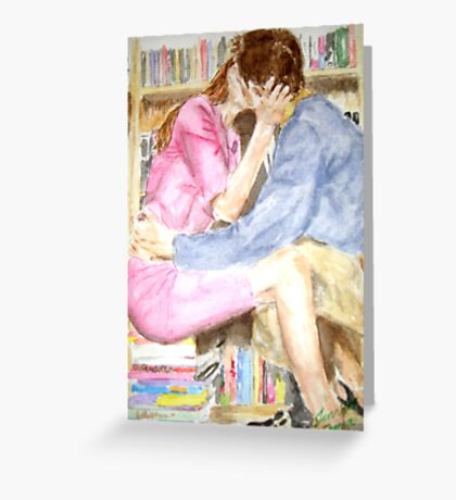 Passionate Lovers Greeting Card