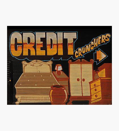 Credit Crunchers! Photographic Print