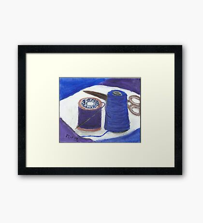 Sewing Space Framed Print