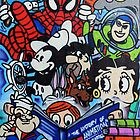 Comic book mural outside Birmingham Central Library by James1980