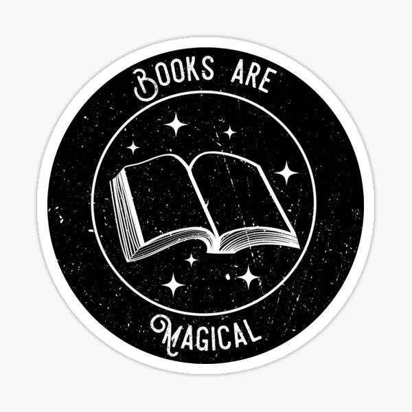 Los libros son mágicos Pegatina
