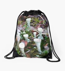 The Magic of the Forest Floor Drawstring Bag