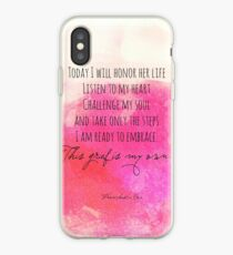 I will honor her life iPhone Case