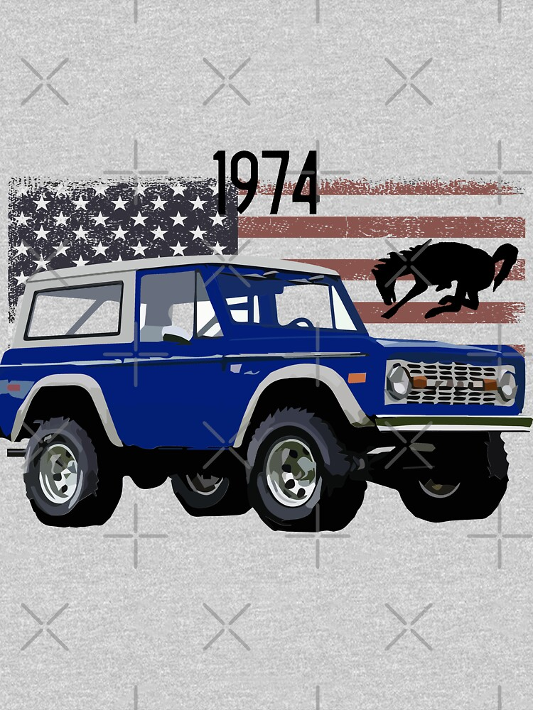 1974 Blue Ford Bronco by FromThe8Tees