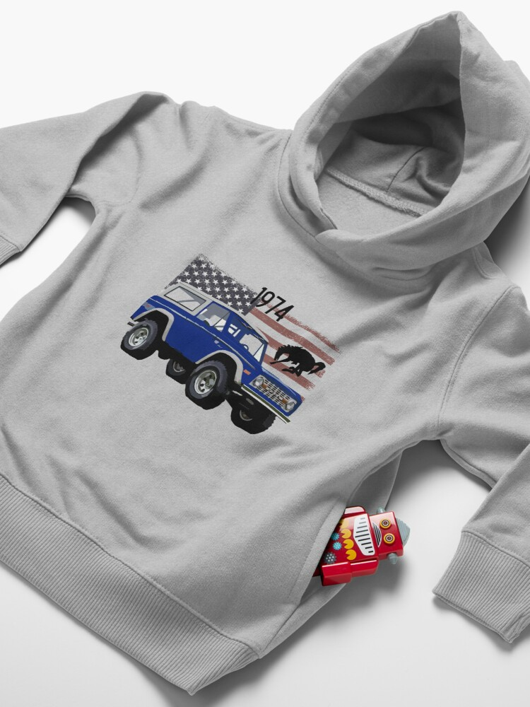 Alternate view of 1974 Blue Ford Bronco Toddler Pullover Hoodie