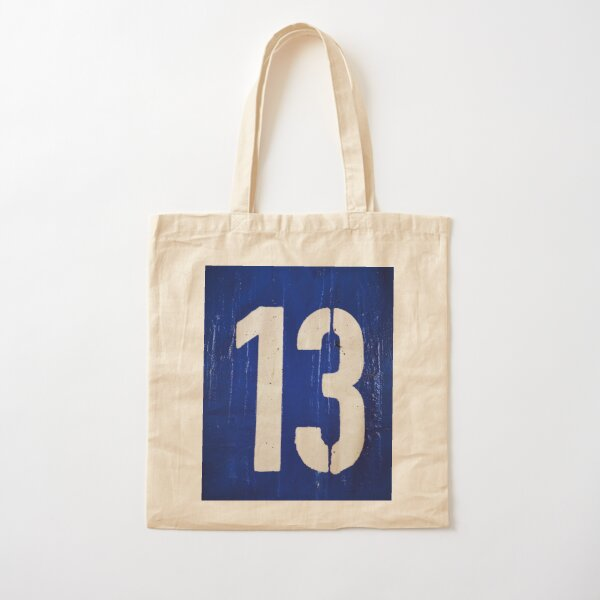 BIG and BOLD number THIRTEEN Cotton Tote Bag