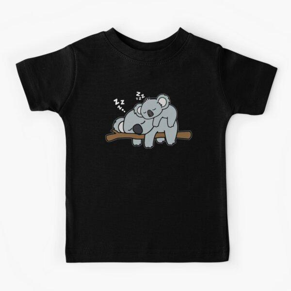 Funny Lazy Baby Koala with Koala Mama Bear Family Mothers Day Gift Kids T-Shirt