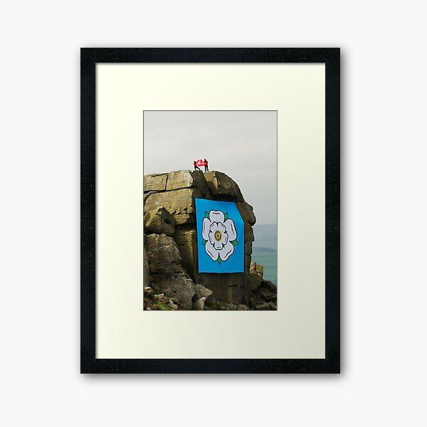 ROCK FLAG Framed Art Print
