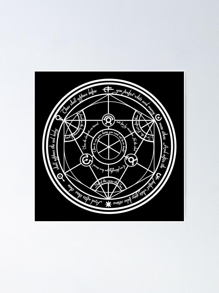Alternate view of Human Transmutation Circle  Poster