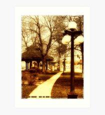 Depot Park (Historic District, Downtown Kalispell) Art Print