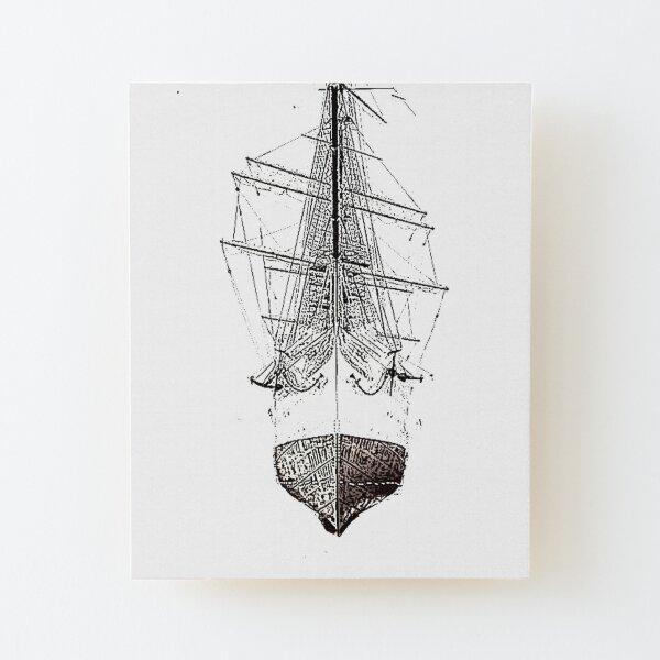 Sail Boat  Wood Mounted Print