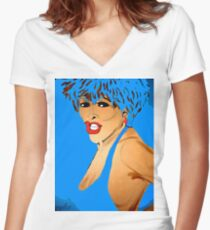 Tina Simply The Best #2 Women's Fitted V-Neck T-Shirt