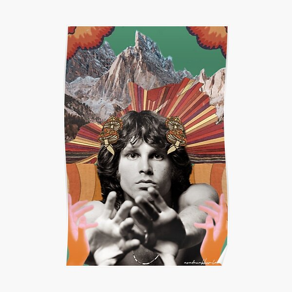 Jim Morrison Collage Poster Prints/Notebook Poster