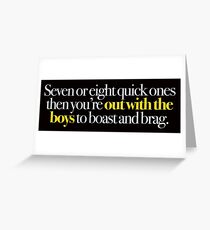 Young Frankenstein - Seven or eight quick ones,,, Greeting Card