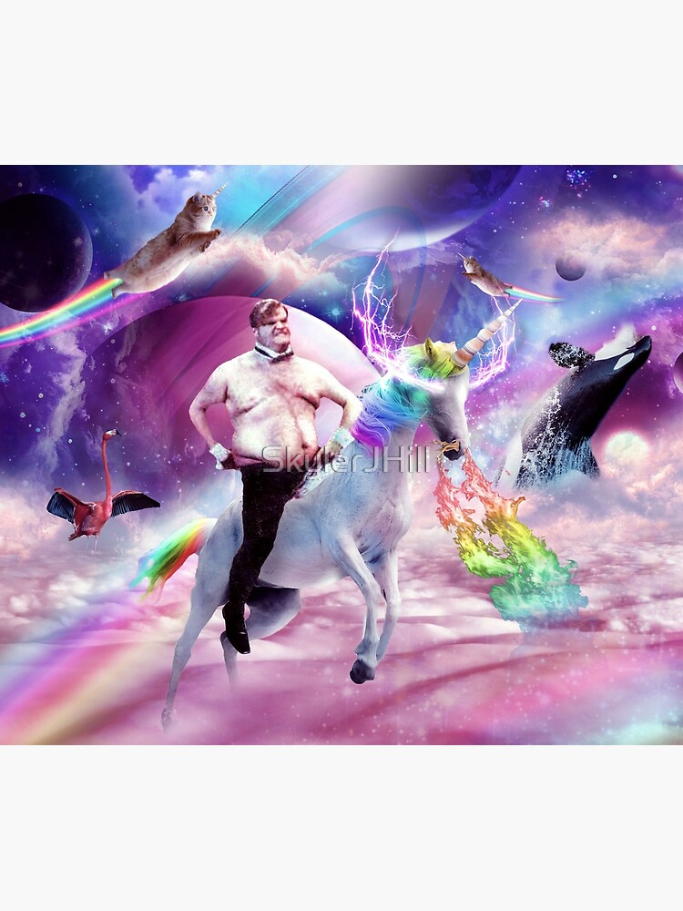 Chris Farley Riding Unicorn by SkylerJHill