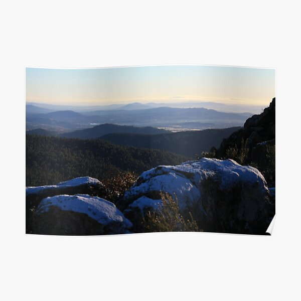 Early Snow at Booroomba Rocks Poster