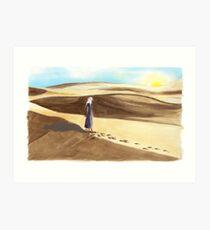 Tato on Sunrise at El Sahara Dessert Art Print