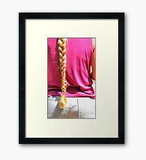 Blond ponytail. Framed Print