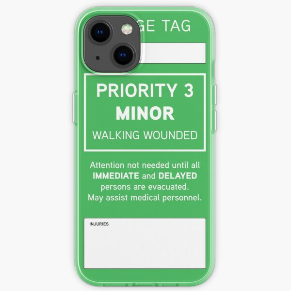 Triage Tag: Minor iPhone Soft Case