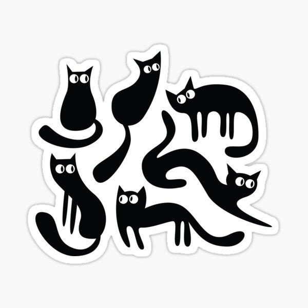 Feline Good - Black & White Sticker