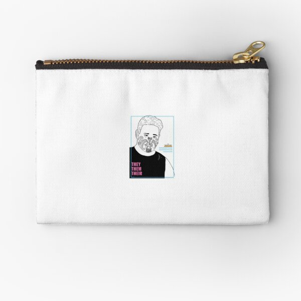 They Them Their - Transgender Diversity Poster Zipper Pouch