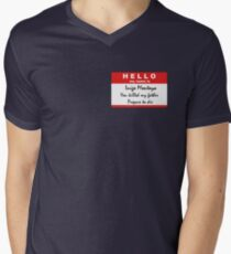 Hello, my name is Inigo Montoya Men's V-Neck T-Shirt