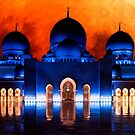 Blood moon over Sheikh Zayed Mosque by Colin White