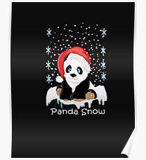 panda christmas pajamas gift best birthday xmas gift Poster