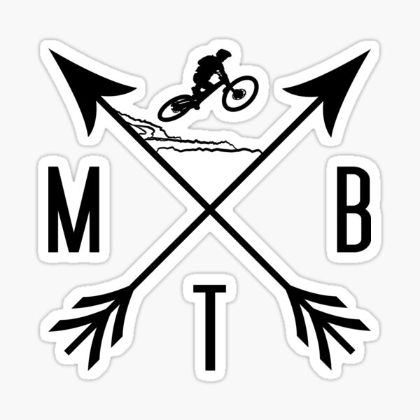 Downhill Mountainbike, Mountainbiking, MTB Mountain Bike mountains Downhill MTB Mountain Bike Mountainbike mountains Mountainbike, MTB downhill. bmx, mountain biker Sticker