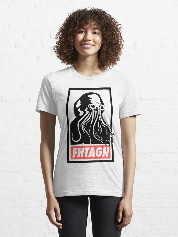 Alternate view of Cthulhu Fhtagn Essential T-Shirt