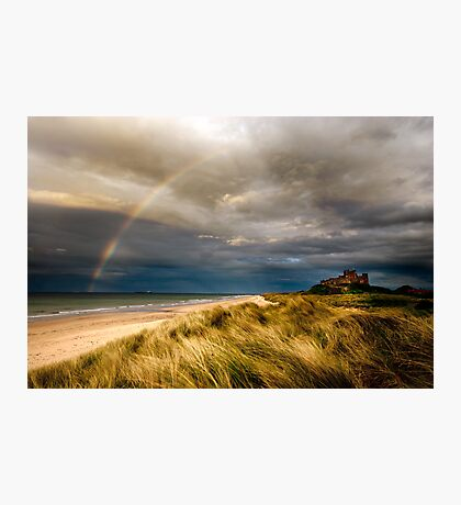 Bambrough Rainbow Photographic Print