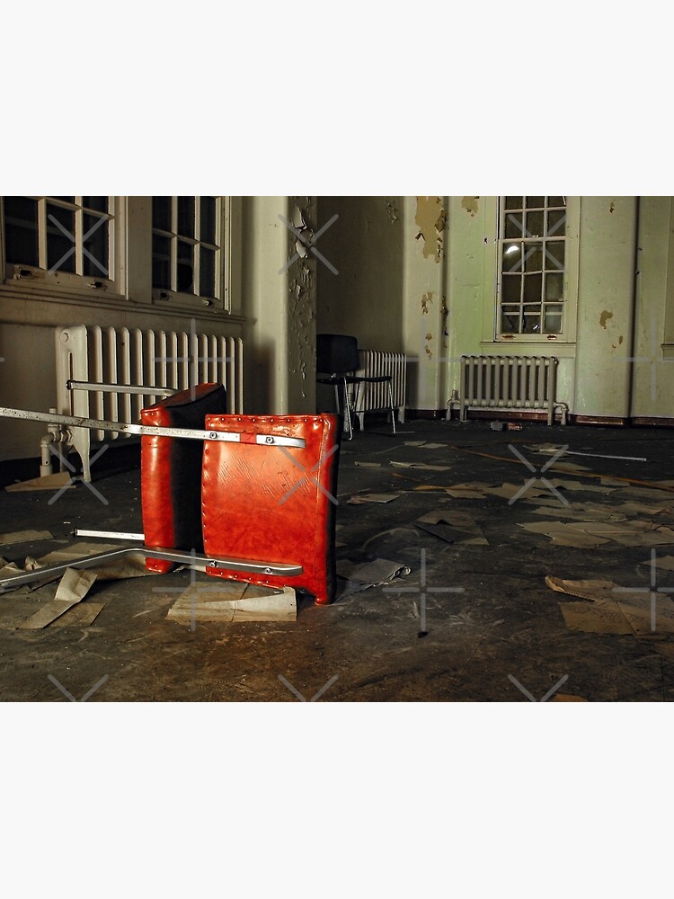 Overturned Red Chair in Abandoned Room by kpander