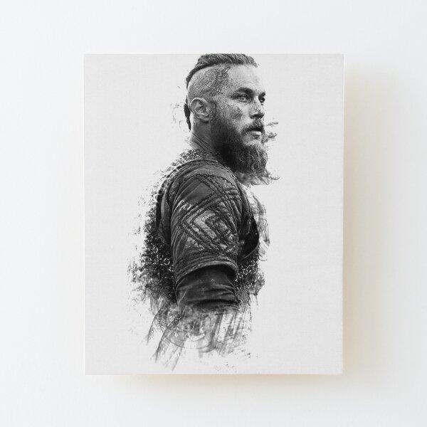 Ragnar Lothbrok Impression montée sur bois