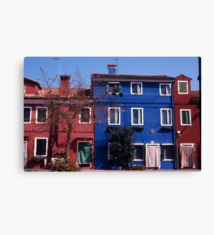 Houses, Burano Canvas Print