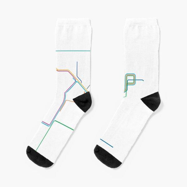Sydney Train Network Line Art Socks